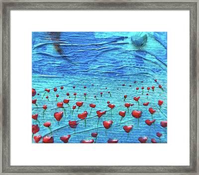 Heart Poppies Framed Print by Shawna Scarpitti