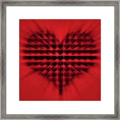 Heart Rays Framed Print by Wim Lanclus