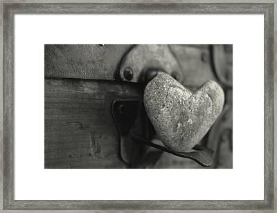 Heart Rock Framed Print by Toni Hopper