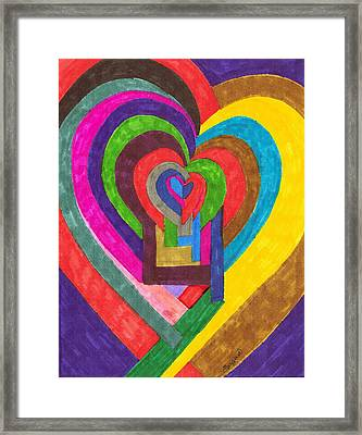 Heart Under Rennovation Framed Print by Brenda Adams