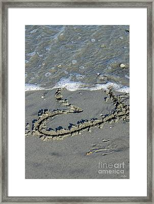 Heart Washing Away Framed Print by Jennifer White