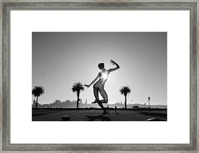 Heartbeat Framed Print by Jane Hu