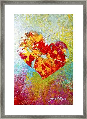 Heartfelt I Framed Print by Marion Rose