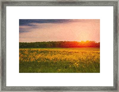 Heartland Glow Framed Print by Tom Mc Nemar