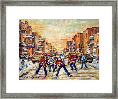 Heat Of The Game Framed Print by Carole Spandau