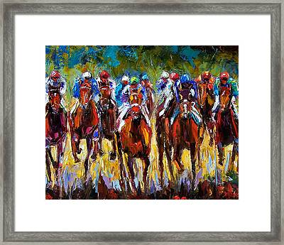 Heated Race Framed Print by Debra Hurd