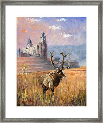 Heaven And Earth Framed Print by Jeff Brimley