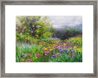 Heaven Can Wait Framed Print by Talya Johnson