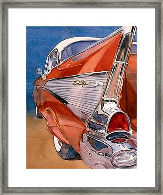 Heaven Is A '57 Framed Print by Diane Morgan