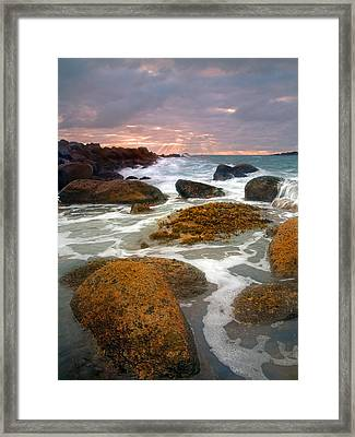 Heavenly Dawning Framed Print by Mike  Dawson