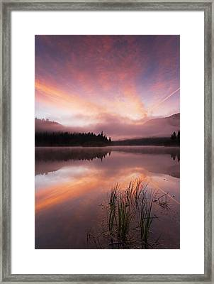 Heavenly Skies Framed Print by Mike  Dawson