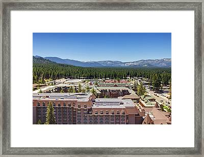 Heavenly Village Framed Print by Ricky Barnard