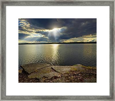 Heaven's Eye Framed Print by Steven  Michael