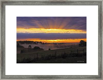 Heavens Glow Walker Church Road Sunrise Framed Print by Reid Callaway