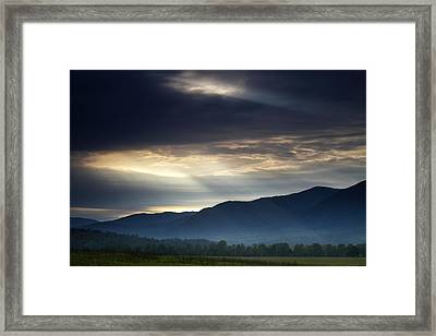 Heaven's Light Framed Print by Andrew Soundarajan