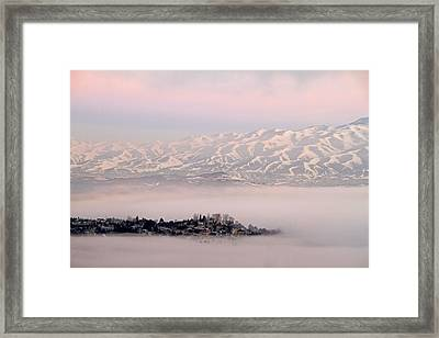 Heavy Fog At Sunrise Framed Print by Donna Kennedy
