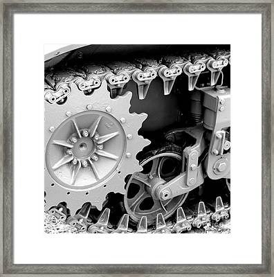 Heavy Metal In Gray Framed Print by Valerie Fuqua