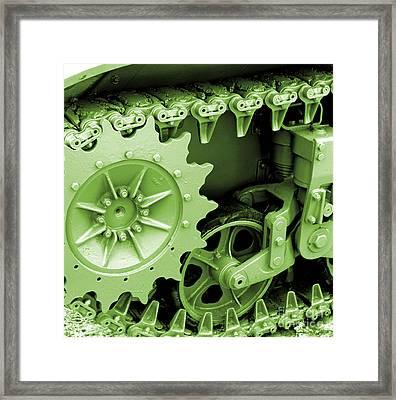 Heavy Metal In Green Framed Print by Valerie Fuqua