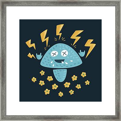 Heavy Metal Mushroom Framed Print by Boriana Giormova