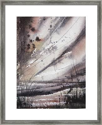 Heavy Rain Framed Print by Keran Sunaski Gilmore