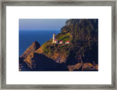 Heceta Head Lighthouse 2 Framed Print by Garry Gay