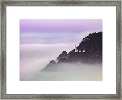 Heceta Head Lighthouse 2 Framed Print by Leland D Howard