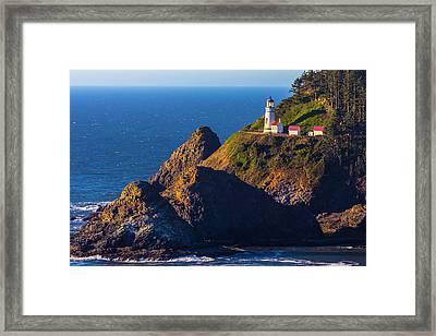 Heceta Head Lighthouse Framed Print by Garry Gay