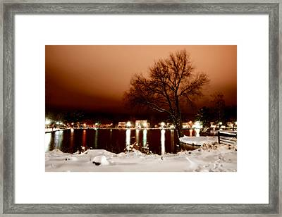 Hecksher Pond Framed Print by Michael Simeone