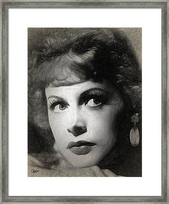 Hedy Lamarr Drawing Framed Print by Quim Abella