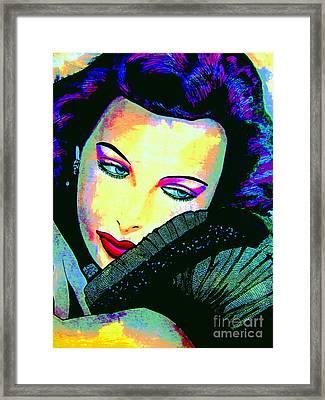 Hedy Lamarr Framed Print by Colleen Kammerer