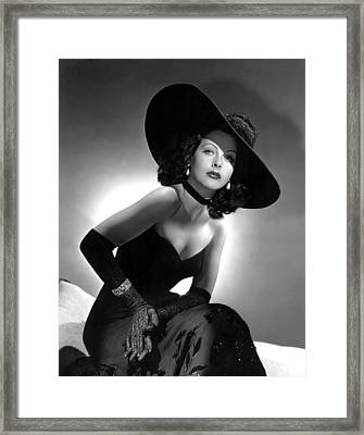 Hedy Lamarr Framed Print by Everett