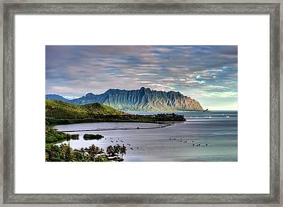 He'eia Fish Pond And Kualoa Framed Print by Dan McManus