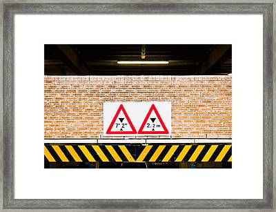 Height Warning Framed Print by Tom Gowanlock