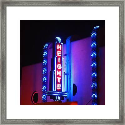 Heights Theater Framed Print by Cheri Randolph
