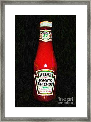Heinz Tomato Ketchup Framed Print by Wingsdomain Art and Photography
