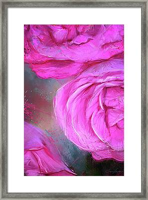 Heirloom - Heirloom Hybrid Tea Roses Art Framed Print by Lourry Legarde
