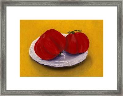 Heirloom Tomatoes Framed Print by Anastasiya Malakhova