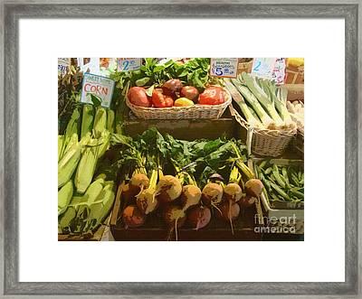 Heirloom Tomatoes Framed Print by Lydia L Kramer