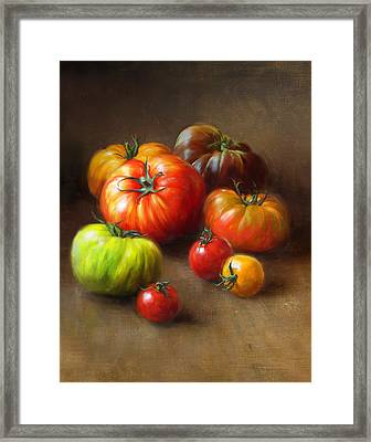 Heirloom Tomatoes Framed Print by Robert Papp