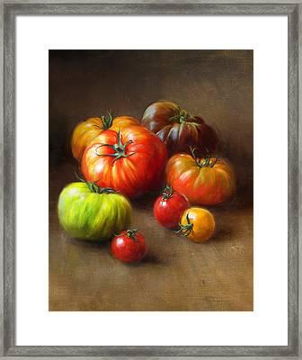 Heirloom Tomatoes Framed Print by Robert Papp