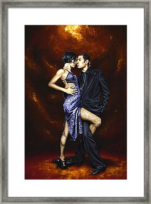 Held In Tango Framed Print by Richard Young