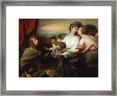 Helen Brought To Paris  Framed Print by Benjamin West