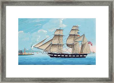 Helen Of Montrose In Neapolitan Waters Framed Print by Michael Funno