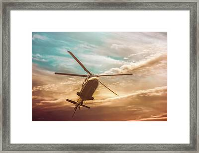 Helicopter Framed Print by Bob Orsillo