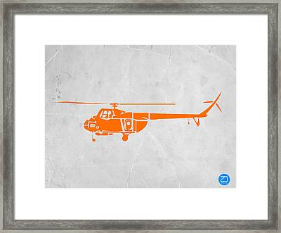 Helicopter Framed Print by Naxart Studio