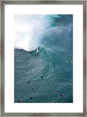 Tubed From Above. Framed Print by Sean Davey