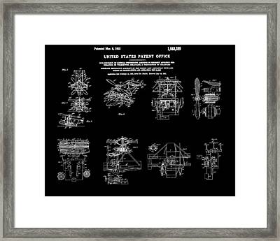 Helicoptor Patent 1932 Black Framed Print by Bill Cannon