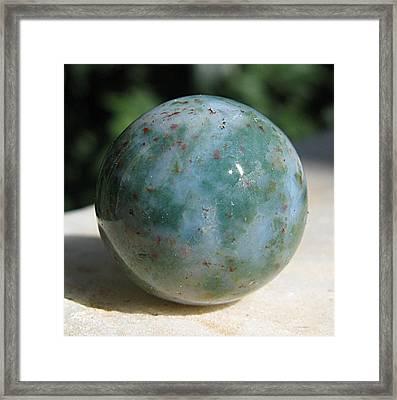 Heliotrope Sphere Framed Print by Andonis Katanos