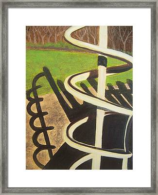 Helix Framed Print by Charlene Cloutier