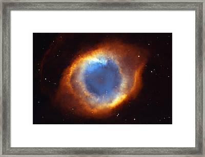 Helix Nebula Framed Print by Ricky Barnard